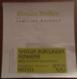 2014er Weißer Burgunder Qualitätswein feinherb