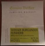 versandkostenfrei: 2014er Weißer Burgunder Qualitätswein feinherb im 18er Karton